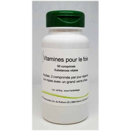 Vitamines pour le foie - 60 comprimés