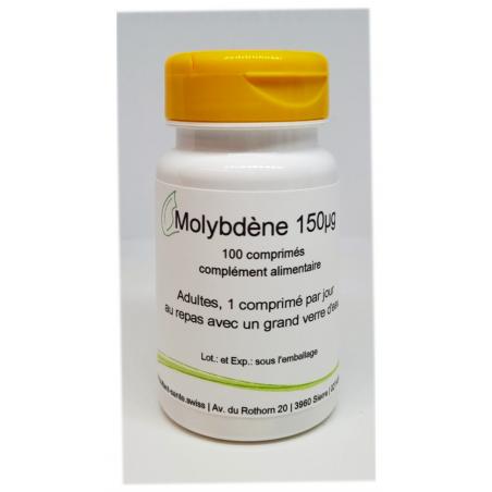 Molybdène 150µg - 100 comprimés