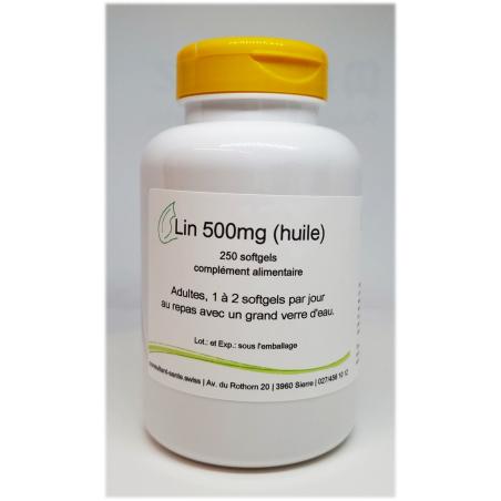 Lin 1000mg (huile) - 100 softgels