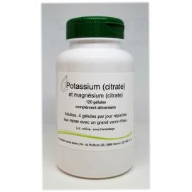 Potassium et magnésium (citrate) - 120 gélules