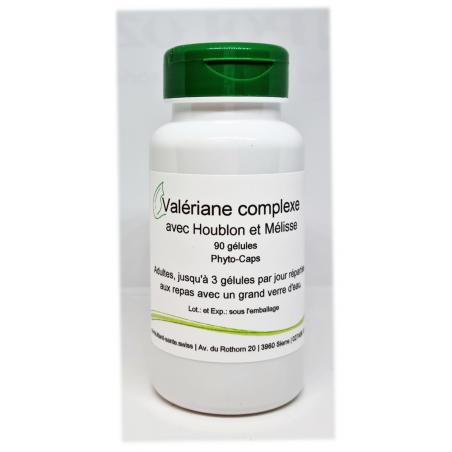 Valériane complexe avec houblon et mélisse - 90 gélules