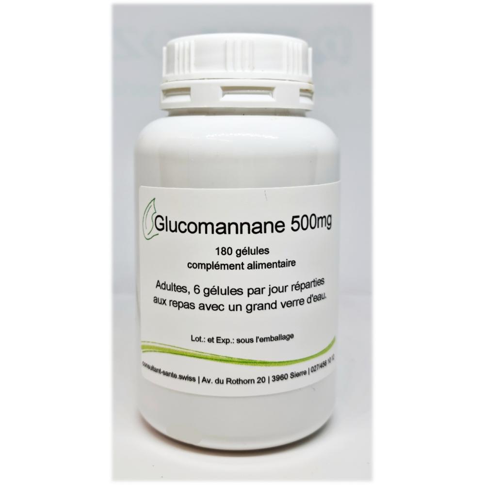 Glucomannane 500mg - 180 gélules
