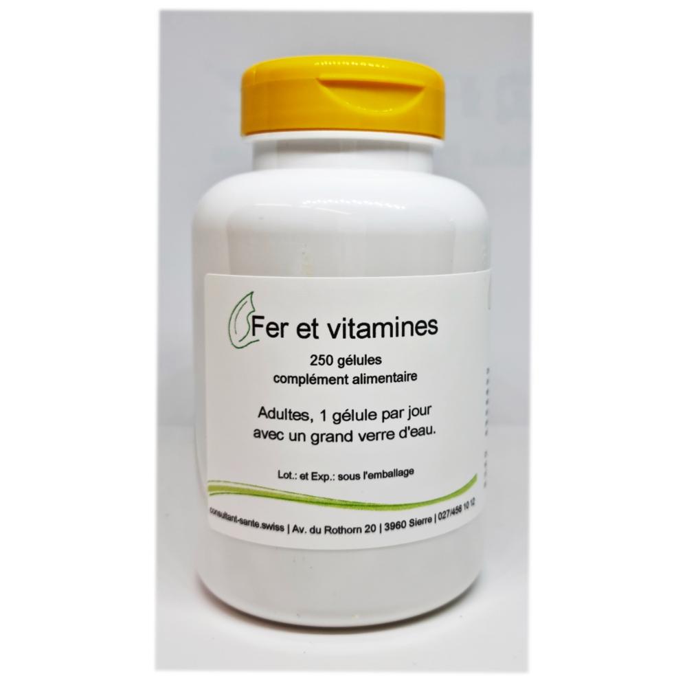 Fer et vitamines - 250 gélules
