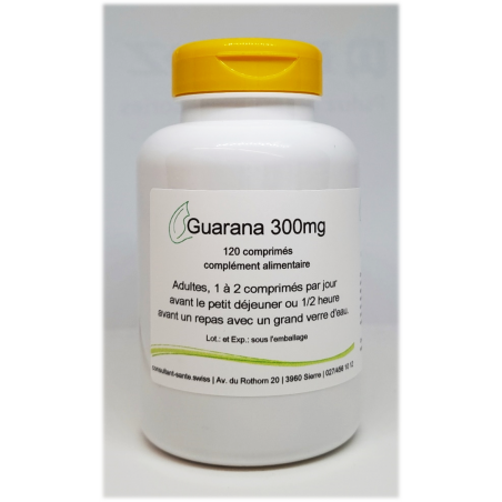 Guarana 300mg - 120 comprimés