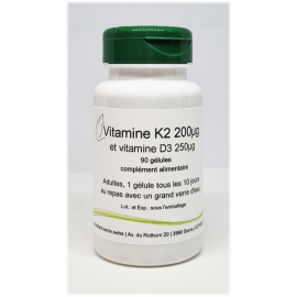 Vitamine K2 et vitamine D3