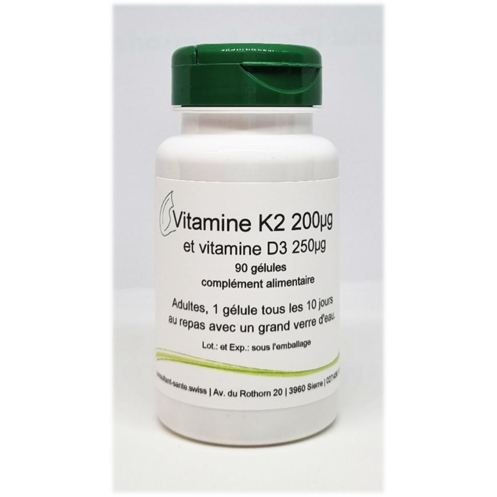 Vitamine K2 et vitamine D3 - 90 gélules