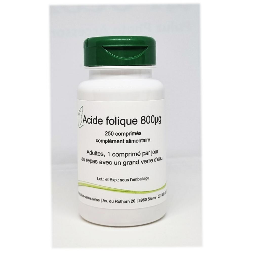 Acide folique 800µg - 250 comprimés