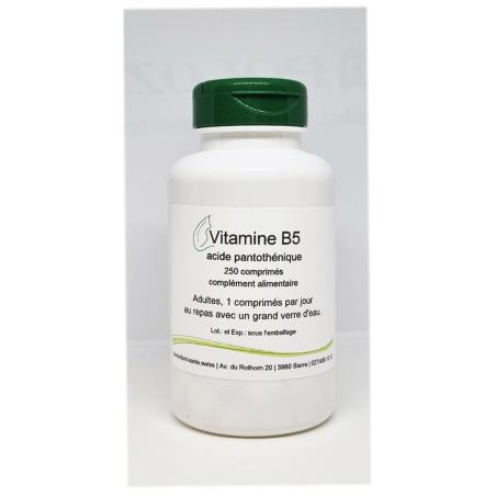 Vitamine B5 200mg - 250 comprimés