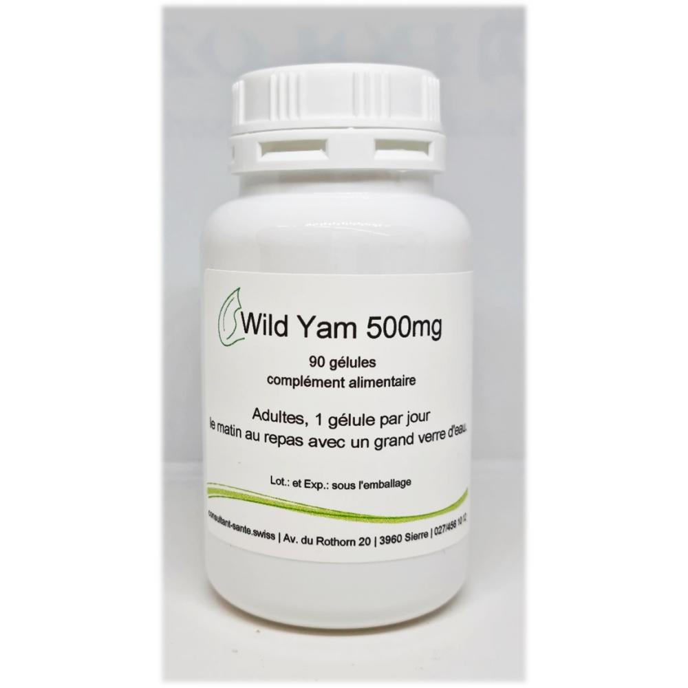 Wild Yam 500mg (Igname sauvage) - 90 gélules