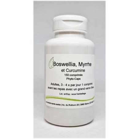 Boswellia, Curcumine & Myrrhe - 150 comprimés