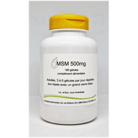 MSM 500mg - 180 gélules
