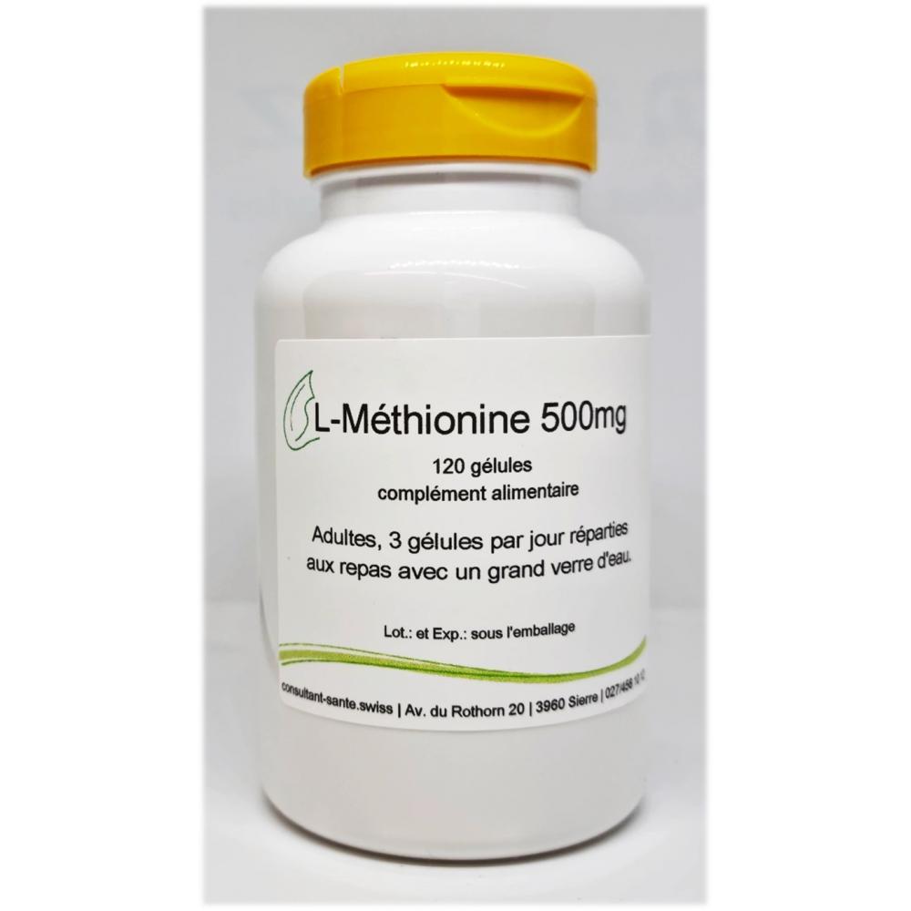 L-Méthionine 500mg - 120 gélules
