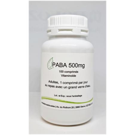PABA 500mg - 100 comprimés