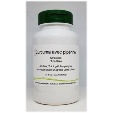 Curcuma - biopérine - 120 gélules